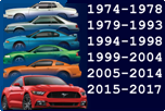 FORD MUSTANG 1974-2017