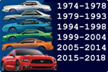 FORD MUSTANG 1974-2020