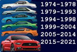 FORD MUSTANG 1974-2021