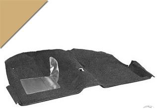 FORD MUSTANG 1965-1968 FASTBACK KIT MOQUETTE PEPITE D OR Molded carpet kit nugget gold SCOTT DRAKE CAR65-CP-NG