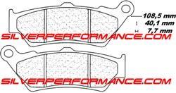 Carbone Lorraine plaquettes de freins 2245 c42 Honda Brake pads